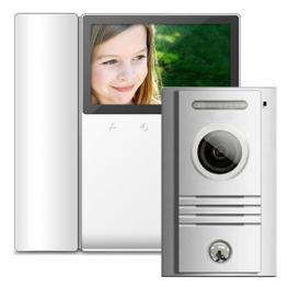 4,3'' цветен TFT LED видеодомофон -комплект - AW-01/43K2/40K
