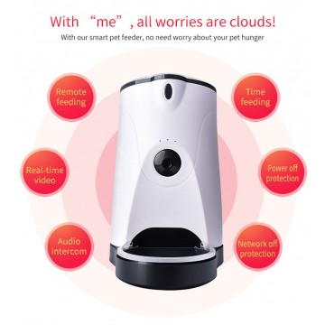 Automatic Food Dispenser With Wifi Feeder For Pets With Camera