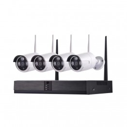 Wireless IP system kit with 4 cameras 2 MP