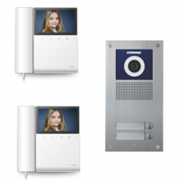 Video intercom system with 2 video subscribers