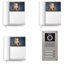 Video intercom system with 3 video subscribers