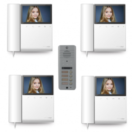 Video intercom system with 4 video subscribers