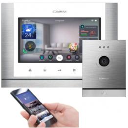 7'' цветен TFT Touch IP видеодомофон -комплект - AW-08/700M/D20M