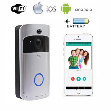 Wi-Fi IP camera video intercom AWDBV05P-HD on battery with SD cart slot , PIR