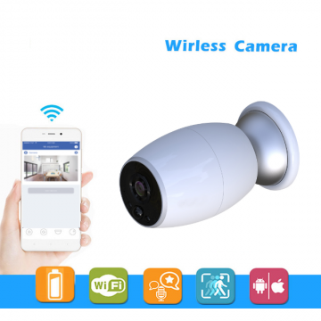 Wi-Fi IP outdoor camera with batteries
